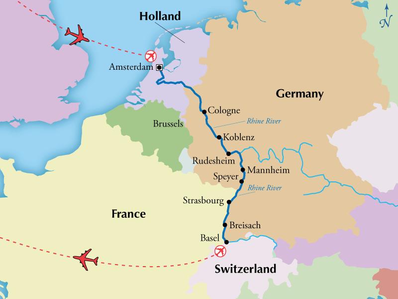 9 Day Rhine River Cruise Visit Amsterdam Basel Heidelberg