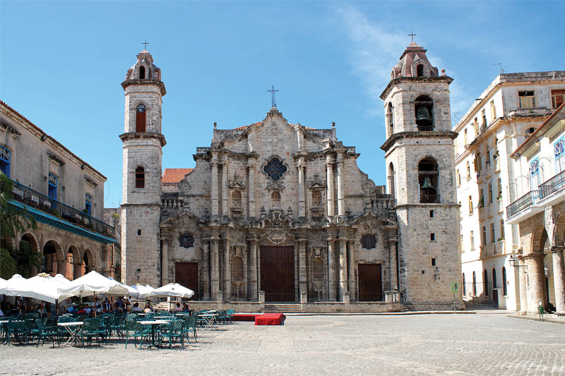 A cathedral in Havana