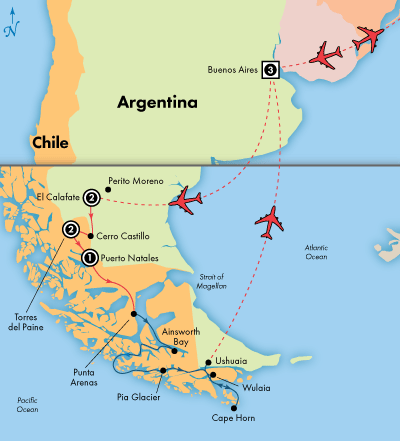 Day South American Glaciers Forests Lakes With Day - Cruise to south america