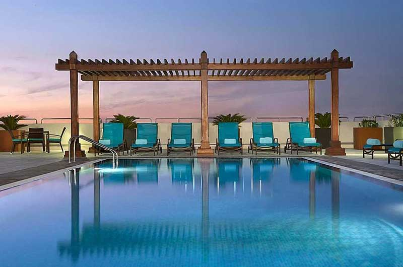 Hilton garden inn dubai al mina gate 1 travel more of for Garden pool dubai