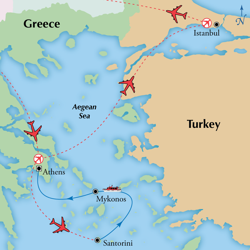 Day Greek Islander With Istanbul Visit Athens Istanbul - Where is athens