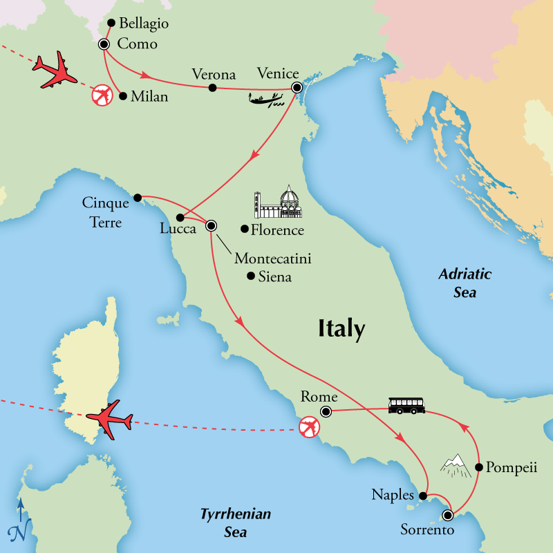 Travel Center Italy Tour Packages
