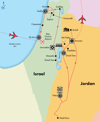 15 Day Deluxe Israel with Jordan Visit Amman Dead Sea Haifa