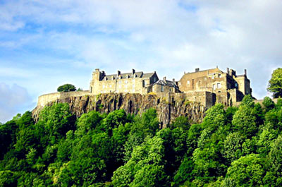Historic Stirling Castle with Bannockburn Monument (PM) Thumbnail